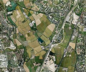 Parco delle Risaie, foto aerea colori
